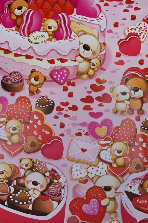 """Упаковочная бумага Красный куб Бумага упаковочная """"Розовые сладости"""""""