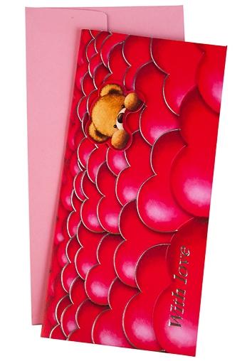 """Открытки про Любовь Красный куб Открытка подарочная """"В океане сердец"""""""