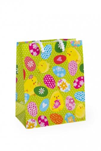 """Пакеты на любой повод Красный куб Пакет подарочный пасхальный """"Забавные цыплята"""""""