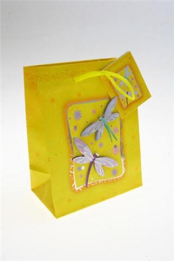"""Пакеты на любой повод Красный куб Подарочный пакет """"Стрекозы"""""""