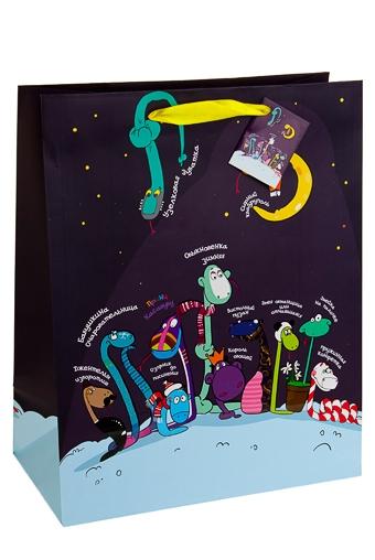 """Пакеты «С Новым годом и Рождеством» Красный куб Пакет подарочный """"Змей-парад"""""""