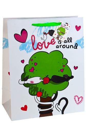 """Пакеты «С Новым годом и Рождеством» Красный куб Пакет подарочный """"Змеиный поцелуй"""""""