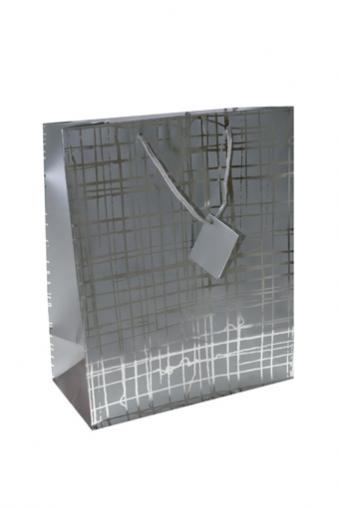 """Пакеты на любой повод Красный куб Пакет подарочный """"Серебряная сеть"""""""
