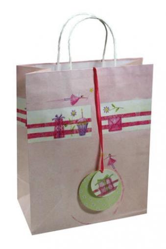"""Пакеты на любой повод Красный куб Пакет подарочный """"Подарок от феи"""""""