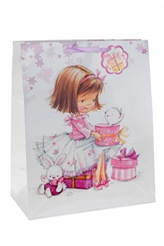 """Пакеты «С Днем рождения» Красный куб Пакет подарочный """"Маленькая именинница"""""""