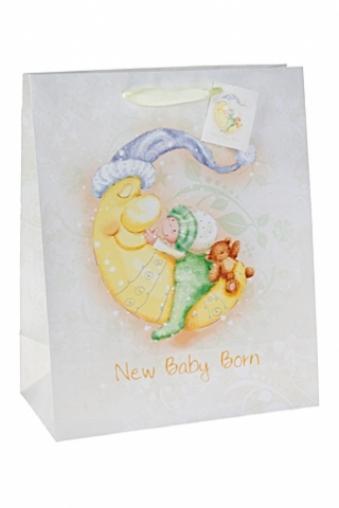 """Пакеты «С новорожденным» Красный куб Пакет подарочный """"Спящий малыш"""""""