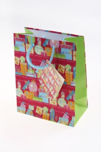 """Пакеты на любой повод Красный куб Пакет подарочный """"Розовый праздник"""""""