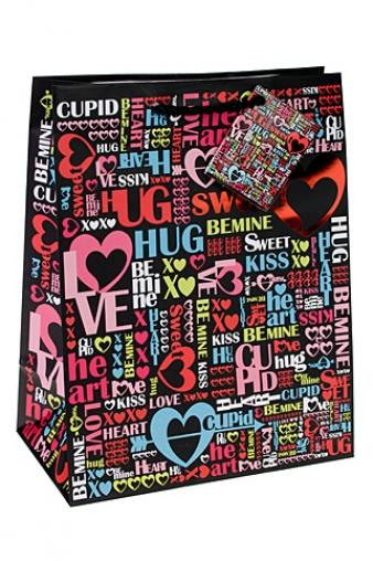 """Пакеты про Любовь Красный куб Подарочный пакет """"Резвость чувств"""""""