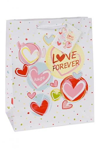 """Пакеты про Любовь Красный куб Подарочный пакет """"Нежные чувства"""""""