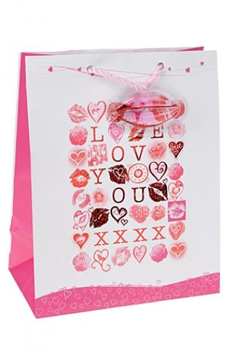 """Пакеты про Любовь Красный куб Подарочный пакет """"Лабиринт любви"""""""