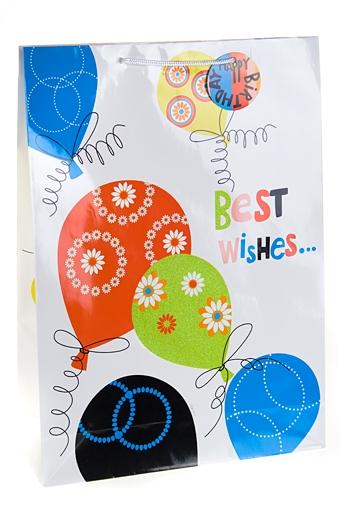 """Пакеты на любой повод Красный куб Пакет подарочный """"Воздушные шары"""""""