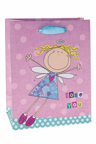 """Пакеты про Любовь Красный куб Пакет подарочный """"Летящая принцесса"""""""