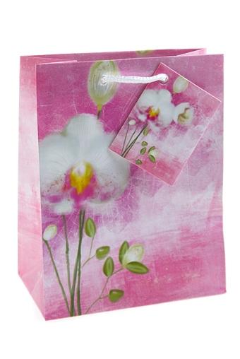 """Пакеты на любой повод Красный куб Пакет подарочный """"Акварельный цветок"""""""