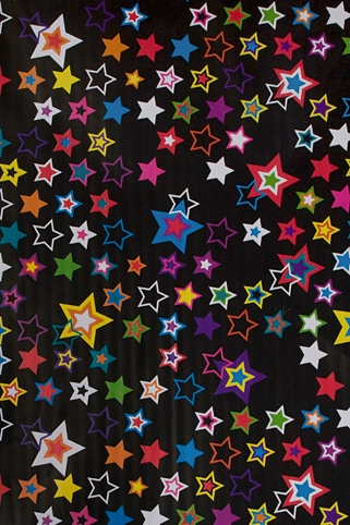 "Упаковочная бумага Красный куб Бумага упаковочная ""Яркие звезды"""