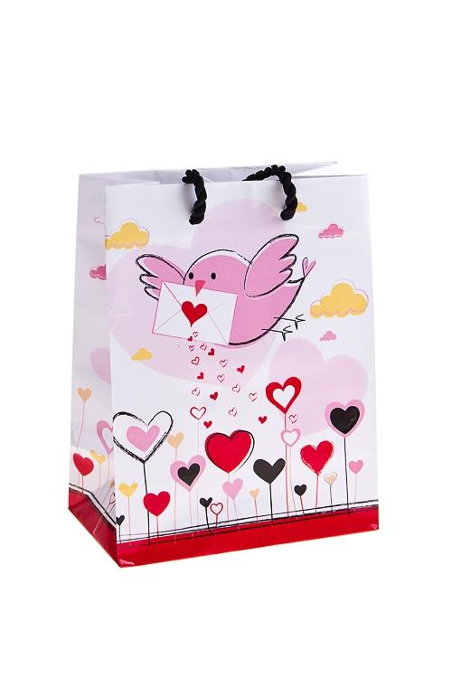 """Пакеты про Любовь Красный куб Пакет подарочный """"Письмо счастья"""""""
