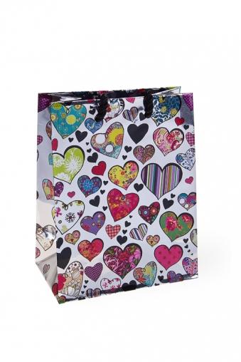 """Пакеты про Любовь Красный куб Пакет подарочный """"Любовный шик"""""""
