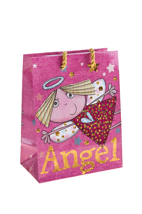 """Пакеты про Любовь Красный куб Пакет подарочный """"Розовый ангел"""""""