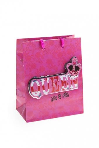 """Пакеты на любой повод Красный куб Пакет подарочный """"Королева на день"""""""