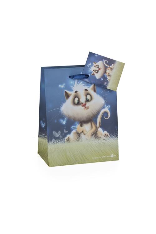 """Пакеты «С Новым годом и Рождеством» Красный куб Пакет подарочный """"Волшебный котик"""""""