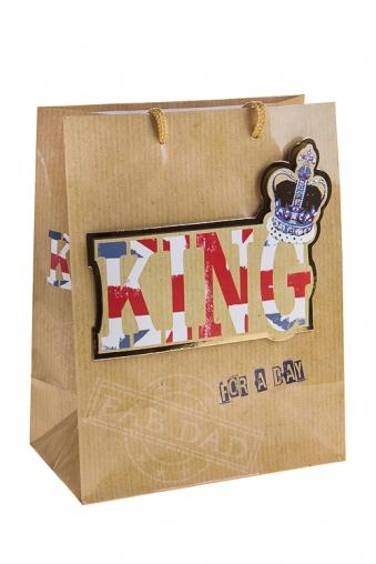 """Пакеты на любой повод Красный куб Пакет подарочный """"Король на день"""""""