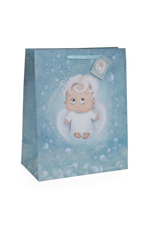"""Пакеты «С Новым годом и Рождеством» Красный куб Пакет подарочный """"Ангелочек"""""""