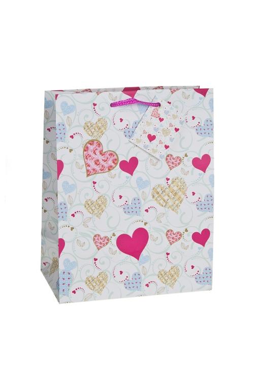 """Пакеты про Любовь Красный куб Пакет подарочный """"Музыка любви"""""""