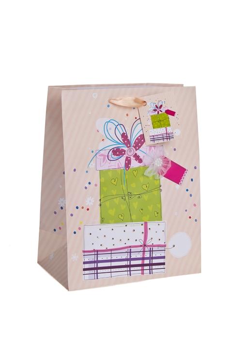 """Пакеты «С Днем рождения» Красный куб Пакет подарочный """"Сюрприз"""""""