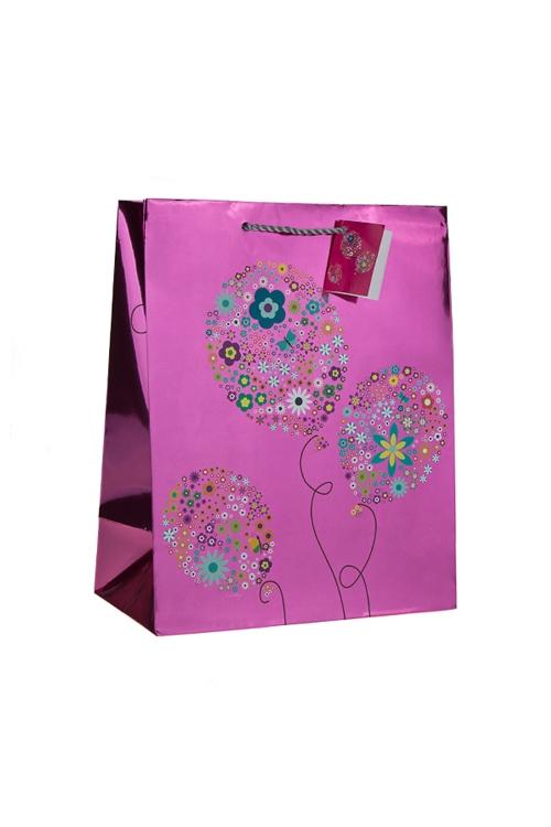 """Пакеты «С Днем рождения» Красный куб Пакет подарочный """"Воздушные шарики"""""""