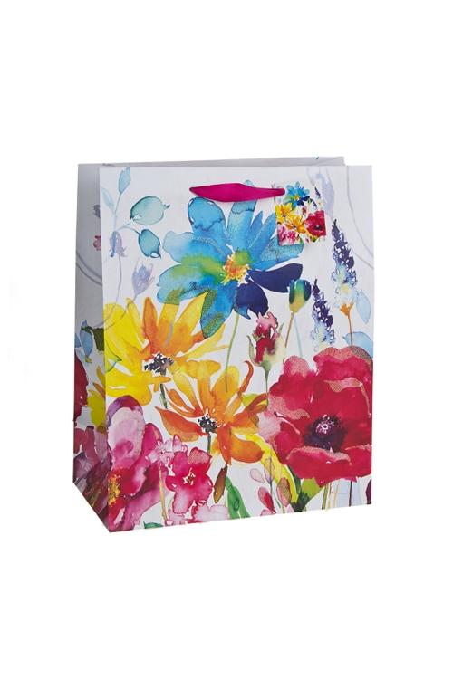 """Пакеты на любой повод Красный куб Пакет подарочный """"Луговые цветы"""""""