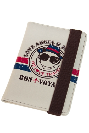 """Обложки для паспорта Красный куб Обложка для паспорта """"Бон вояж"""""""