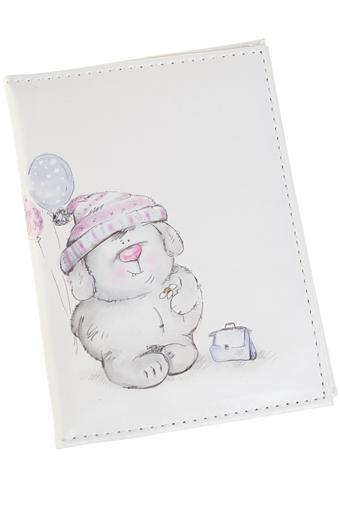 """Обложки для паспорта Красный куб Обложка для паспорта """"Мишка с шариками"""""""