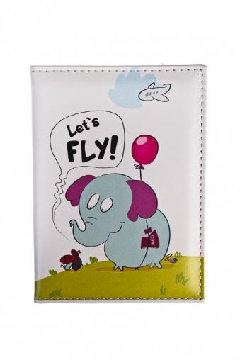 """Сувениры для женщин Красный куб Обложка для паспорта """"Летающий слон"""""""