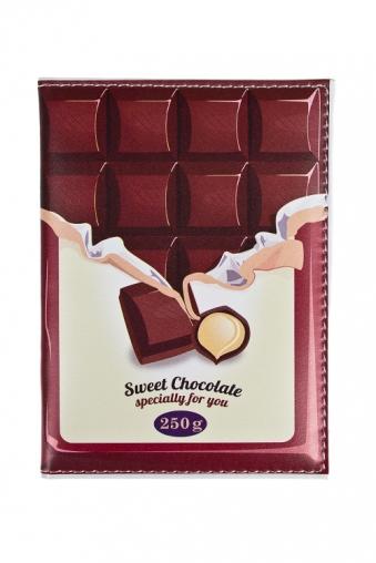 """Сувениры для женщин Красный куб Обложка для паспорта """"Сладкий шоколад"""""""