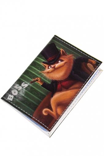 """Сувениры для мужчин Красный куб Держатель для дисконтных карт/визиток """"Большой босс"""""""