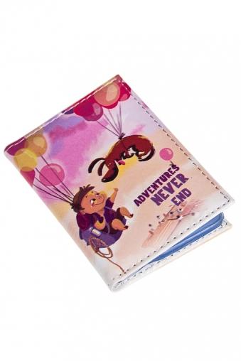 """Сувениры для женщин Красный куб Держатель для дисконтных карт/визиток """"За приключениями"""""""