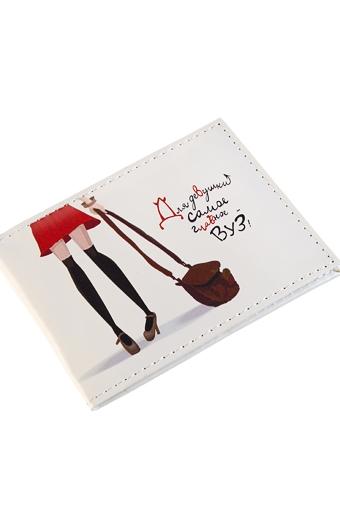 """Обложки для студенческих Красный куб Обложка для студенческого билета """"ВУЗ"""""""