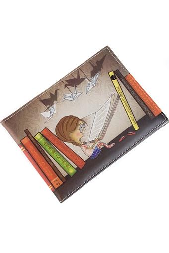 """Обложки для студенческих Красный куб Обложка для зачетки """"Девочка с книгой"""""""