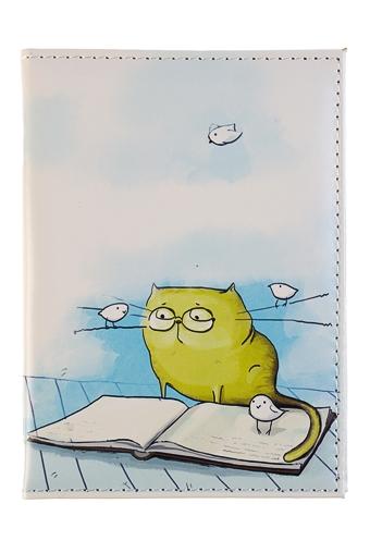 """Обложки для паспорта Красный куб Обложка для паспорта """"Кот-ученый"""""""