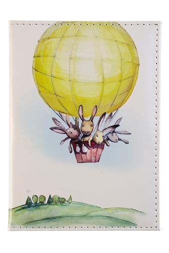 """Обложки для паспорта Красный куб Обложка для паспорта """"На воздушном шаре"""""""