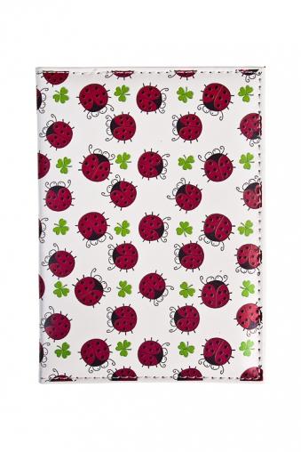 """Сувениры для женщин Красный куб Обложка для паспорта """"Нашествие божьих коровок"""""""