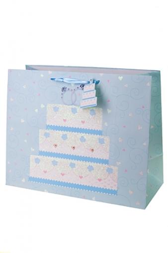 """Пакеты «С Днем свадьбы» Красный куб Пакет подарочный """"Свадебный торт"""""""