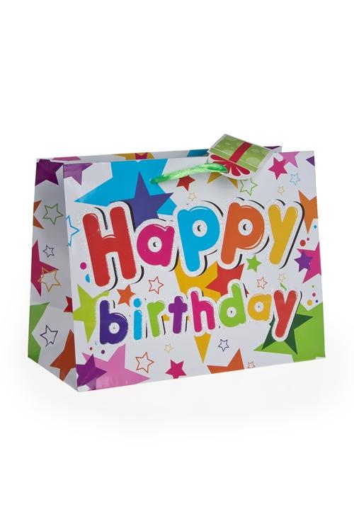"""Пакеты «С Новым годом и Рождеством» Красный куб Пакет подарочный """"Праздничная мишура"""""""