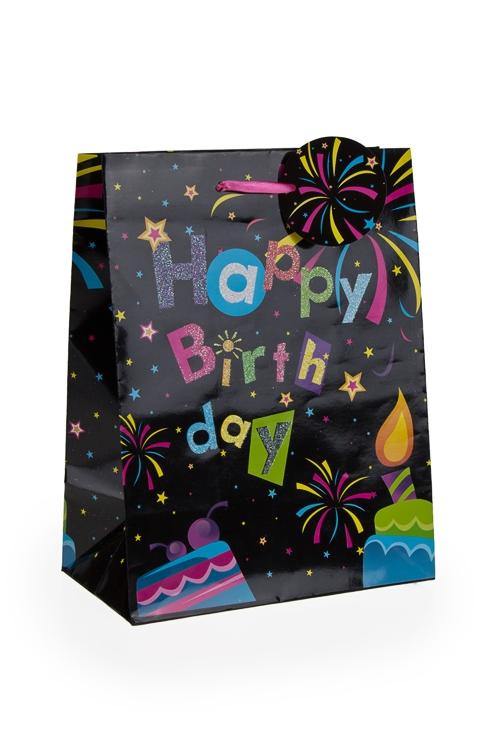 """Пакеты «С Новым годом и Рождеством» Красный куб Пакет подарочный """"Праздничный фейерверк"""""""