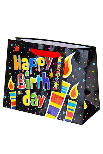 """Пакеты «С Днем рождения» Красный куб Пакет подарочный """"Праздничные свечи"""""""