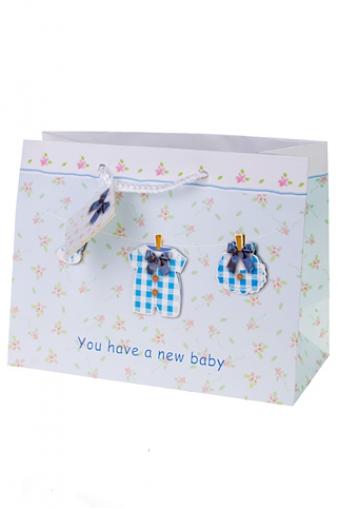 """Пакеты «С новорожденным» Красный куб Пакет подарочный """"Новорожденный малыш"""""""