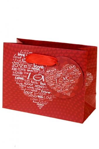 """Пакеты про Любовь Красный куб Пакет подарочный """"Цвет любви"""""""