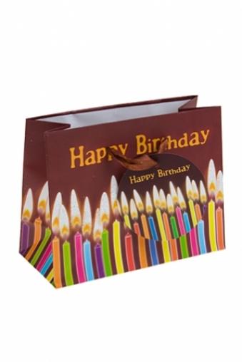 """Пакеты «С Днем рождения» Красный куб Пакет подарочный """"Свечи на День Рождения"""""""
