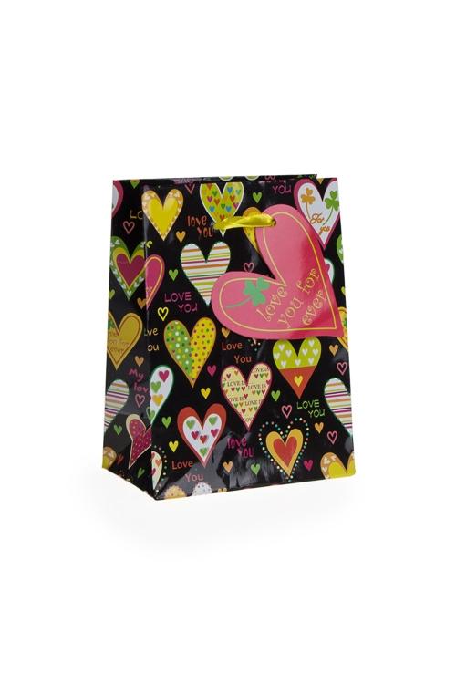 """Пакеты про Любовь Красный куб Пакет подарочный """"Трогательные чувства"""""""