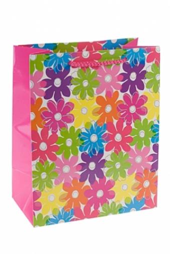 """Пакеты на любой повод Красный куб Пакет подарочный """"Цветочная палитра"""""""