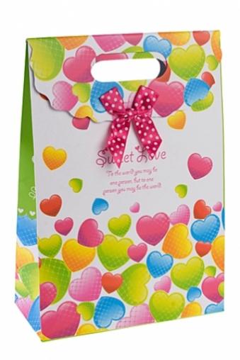 """Пакеты про Любовь Красный куб Пакет подарочный """"Сладкая любовь"""""""